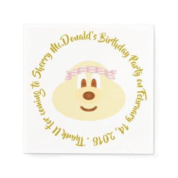 Wedding Themed Birthday - Band Hat 鮑 鮑 Paper Napkin