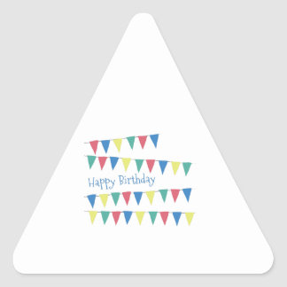Birthday Banner Flags Triangle Stickers