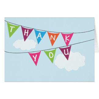 Birthday Banners Thank You Stationery Note Card