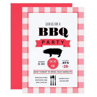 Birthday Barbecue personalized Invitation