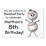 """Birthday Baseball Party Invitation 5"""" X 7"""" Invitation Card"""