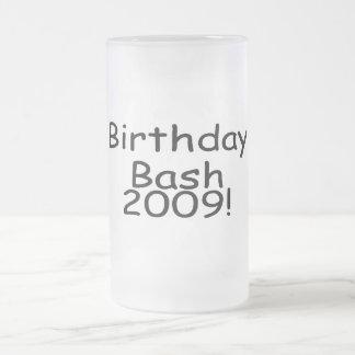 Birthday Bash 2009 Frosted Glass Beer Mug