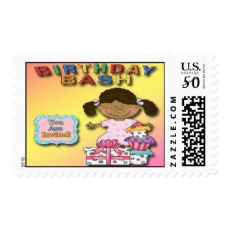 Birthday Bash Girl B Party Invitation Postage