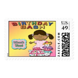 Birthday Bash Girl B Party Thank You Postage