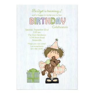Birthday Bashful Cutie Party Invitation