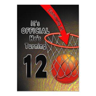 BIRTHDAY - BASKETBALL - 12TH INVITATION