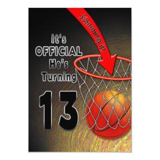 BIRTHDAY - BASKETBALL - 13TH INVITATION