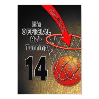 BIRTHDAY - BASKETBALL - 14TH INVITATION
