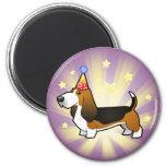 Birthday Basset Hound 2 Inch Round Magnet