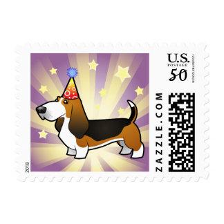 Birthday Basset Hound Postage