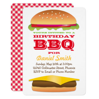 Birthday BBQ Cheeseburger Stack Card