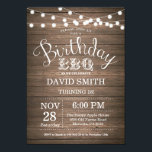"""Birthday BBQ Invitation Rustic 18th Birthday<br><div class=""""desc"""">Birthday BBQ Invitation. Rustic 18th Birthday Invitation Wood Background with String Lights. 13th 15th 16th 18th 20th 21st 30th 40th 50th 60th 70th 80th 90th 100th, Any age. Adult Birthday. Woman or Man Male Birthday Party. For further customization, please click the """"Customize it"""" button and use our design tool to...</div>"""