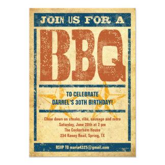"Birthday BBQ Invitations 5"" X 7"" Invitation Card"