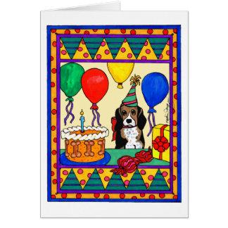 BIRTHDAY BEAGLE GREETING CARDS