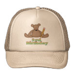 Birthday Bear 3rd Birthday Gifts Hats