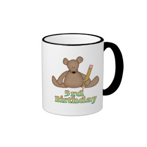 Birthday Bear 3rd Birthday Gifts Mug