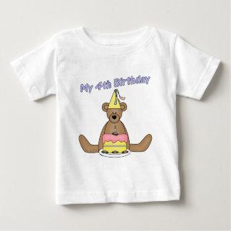 Birthday Bear 4th Birthday Gifts Baby T-Shirt