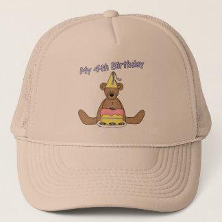 Birthday Bear 4th Birthday Gifts Trucker Hat
