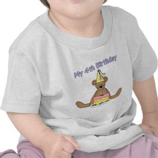 Birthday Bear 4th Birthday Gifts Tee Shirt