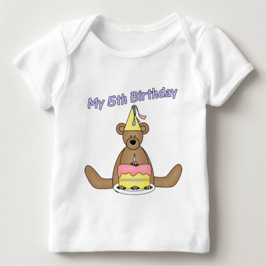 Birthday Bear 5th Birthday Gifts Baby T-Shirt