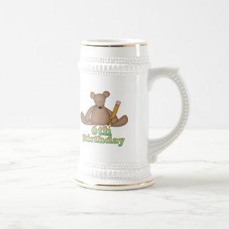 Birthday Bear 6th Birthday Gifts Mugs