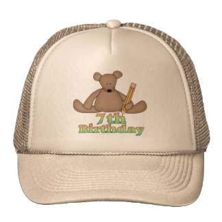 Birthday Bear 7th Birthday Gifts Trucker Hat