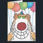 """BIRTHDAY BEAR CARD<br><div class=""""desc"""">An overeager bear celebrates: HEY,  BIRTHDAYS!</div>"""
