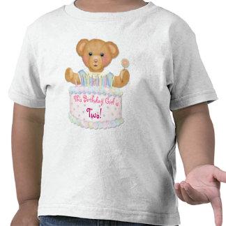 Birthday Bear Girl - Second Birthday T-shirt