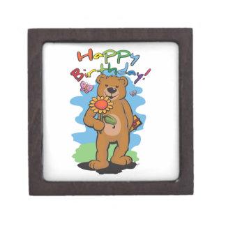 Birthday Bear Keepsake Box