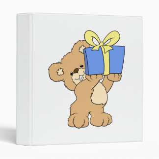 Birthday Bear with Present Binder