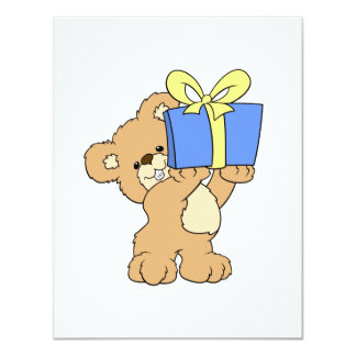 Birthday Bear with Present Invitations