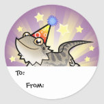 Birthday Bearded Dragon / Rankin Dragon Classic Round Sticker