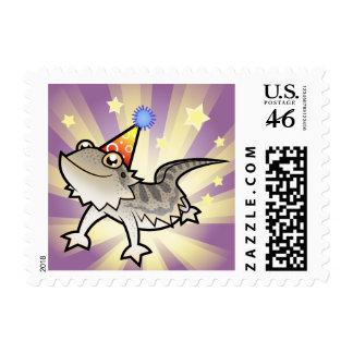 Birthday Bearded Dragon Rankin Dragon Postage Stamp