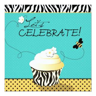 Birthday Bee & Cupcake Birthday Card