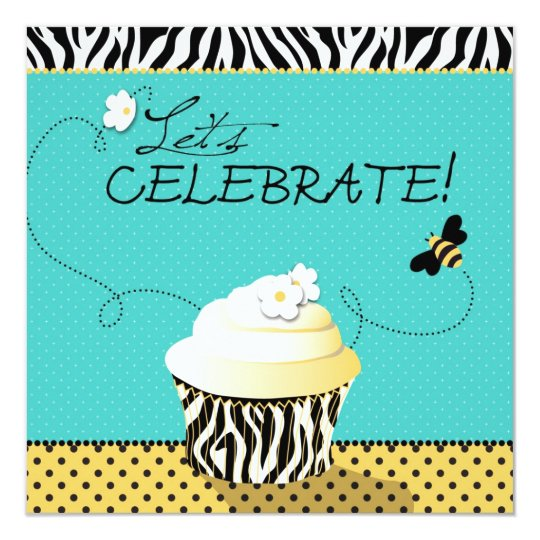 Birthday Bee & Cupcake Birthday Card