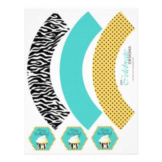 Birthday Bee Cupcake Liners Custom Flyer