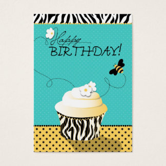 Birthday Bee Gift Tag Large Business Card