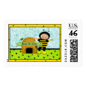 Birthday Bee Postage Stamps stamp