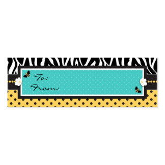 Birthday Bee TY Skinny Gift Tag Double-Sided Mini Business Cards (Pack Of 20)