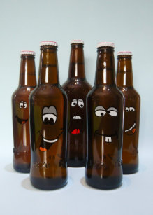 Happy Face With Beer Cards Greeting Photo Cards Zazzle