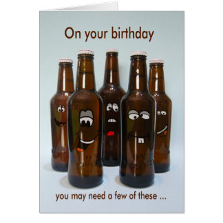 Birthday Beer Humor Getting Older Card