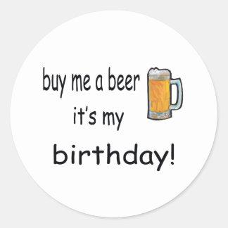 Birthday Beer Sticker