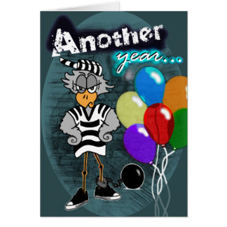 Birthday Behind Bars Card