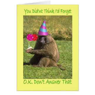 Birthday Belated Card
