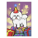 Birthday Bichon Frise Card