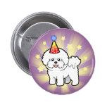 Birthday Bichon Frise Pinback Button
