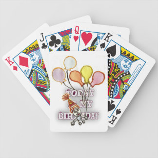 Birthday Bicycle Playing Cards