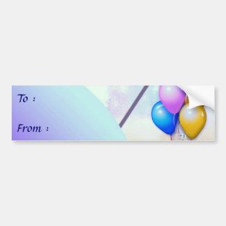 Birthday Big Gift Tag Bumper Sticker