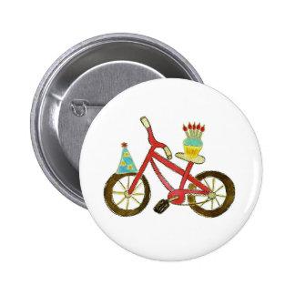 Birthday Bike with Cupcake 2 Inch Round Button