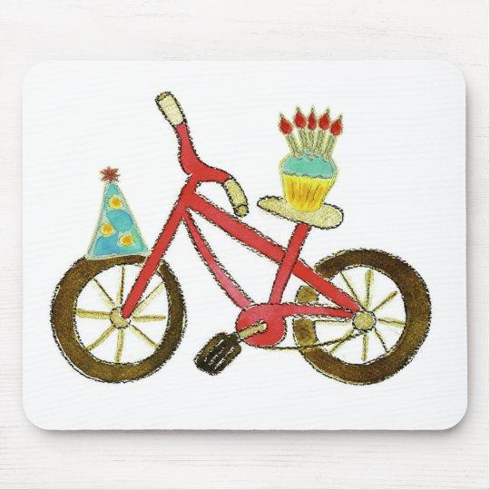 Birthday Bike with Cupcake Mouse Pad